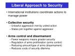liberal approach to security