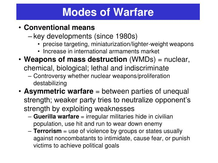 Modes of Warfare