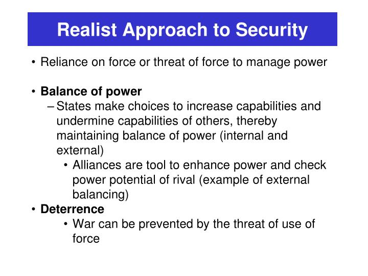 Realist Approach to Security