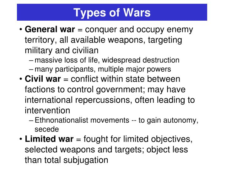 Types of Wars