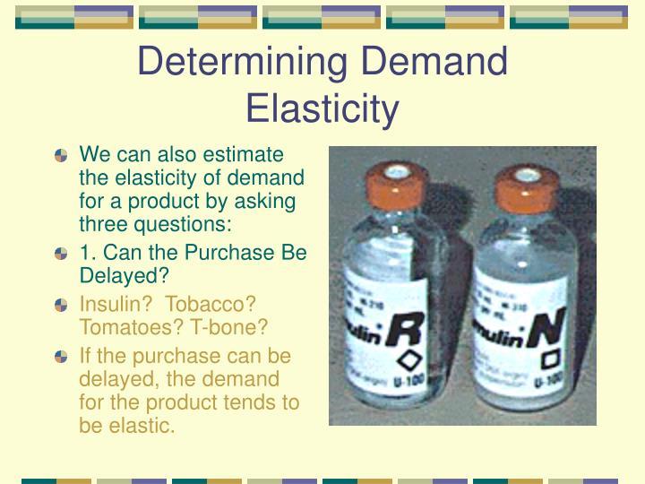 Determining Demand Elasticity