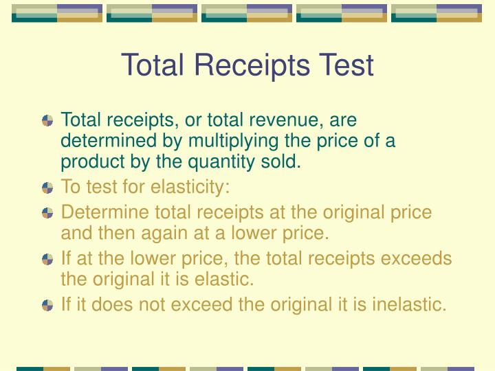 Total Receipts Test