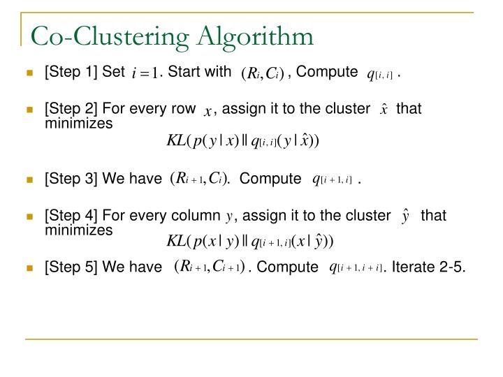 Co-Clustering Algorithm
