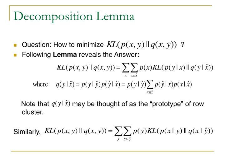 Decomposition Lemma