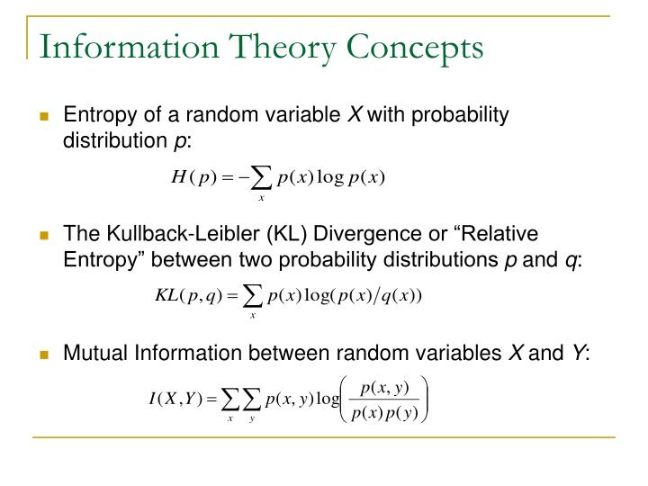 Information Theory Concepts