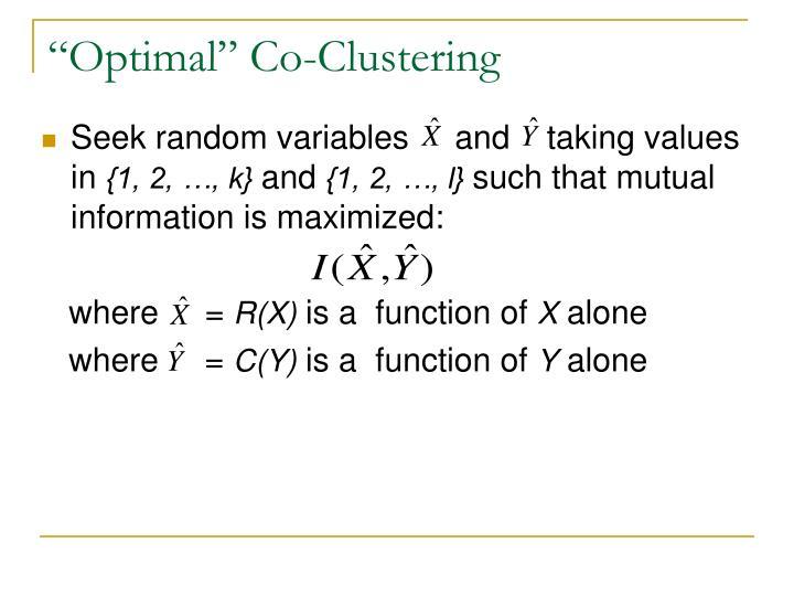 """Optimal"" Co-Clustering"