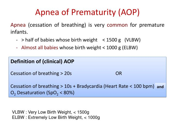 Apnea of Prematurity (AOP)