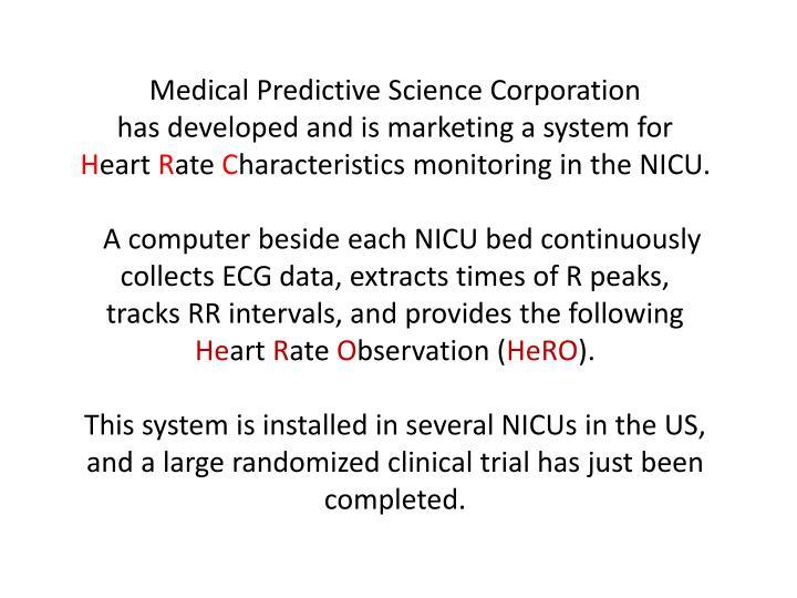 Medical Predictive Science Corporation