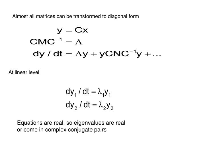 Almost all matrices can be transformed to diagonal form