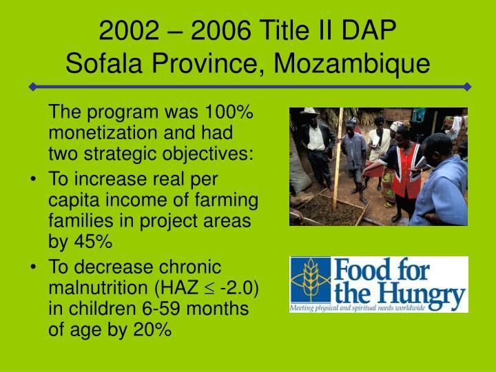 2002 – 2006 Title II DAP