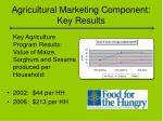 agricultural marketing component key results1
