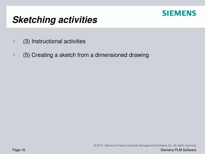 Sketching activities