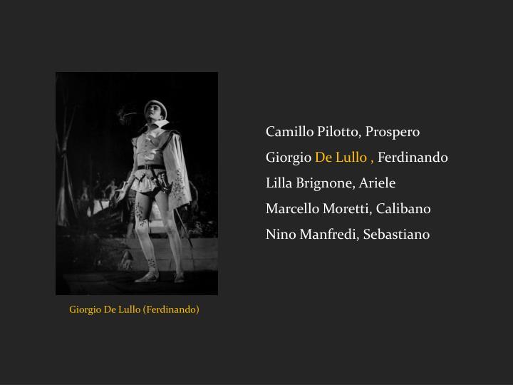 Camillo Pilotto, Prospero