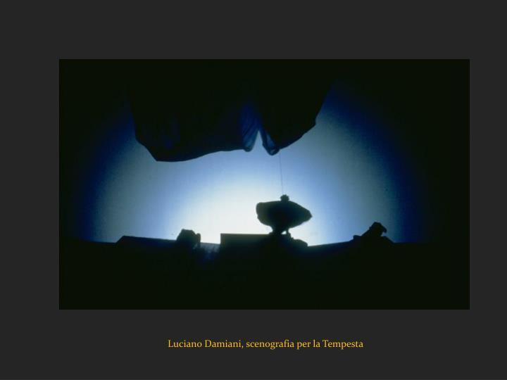 Luciano Damiani, scenografia per la Tempesta