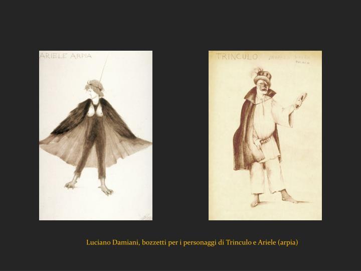 Luciano Damiani, bozzetti per i personaggi di