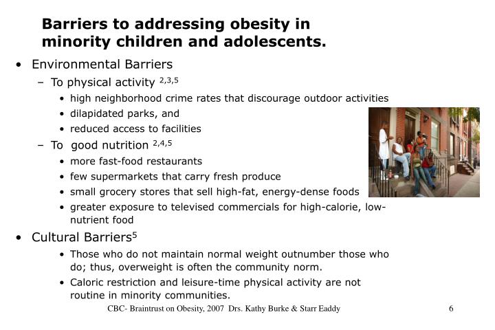 Barriers to addressing obesity in