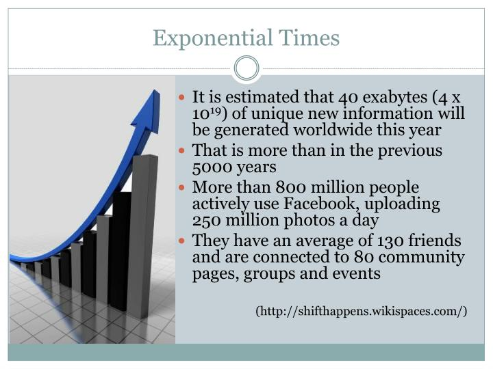 Exponential Times