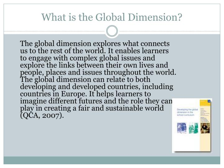 What is the Global Dimension?