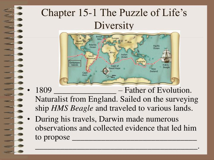 Chapter 15-1 The Puzzle of Life's Diversity