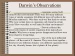 darwin s observations