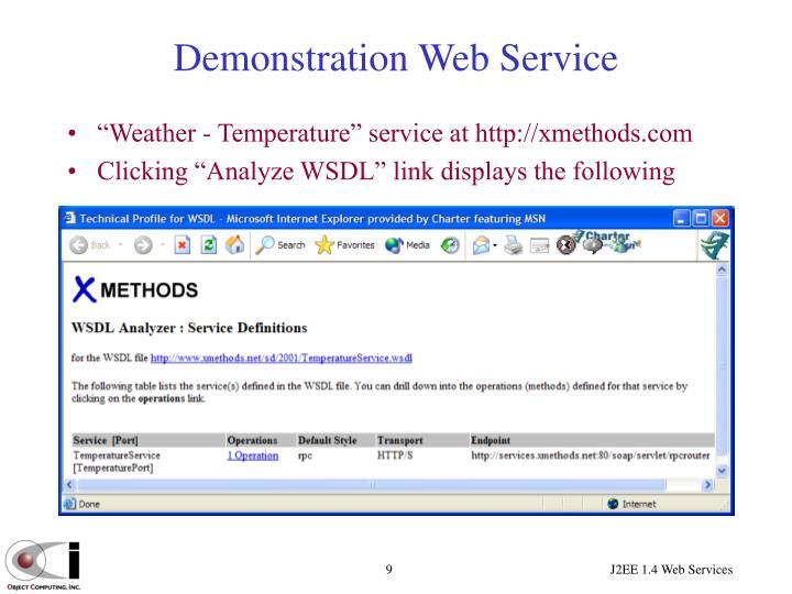 Demonstration Web Service