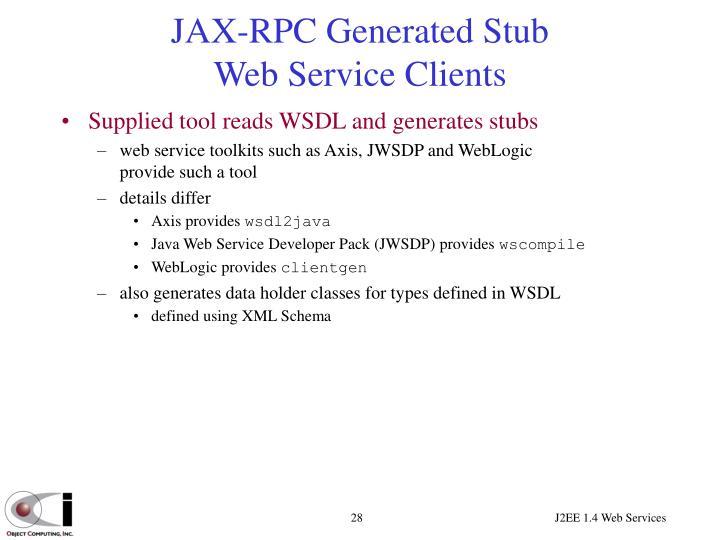 JAX-RPC Generated Stub