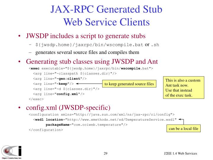JAX-RPC Generated Stub