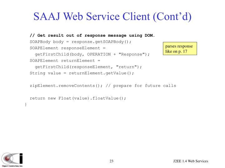 SAAJ Web Service Client (Cont'd)