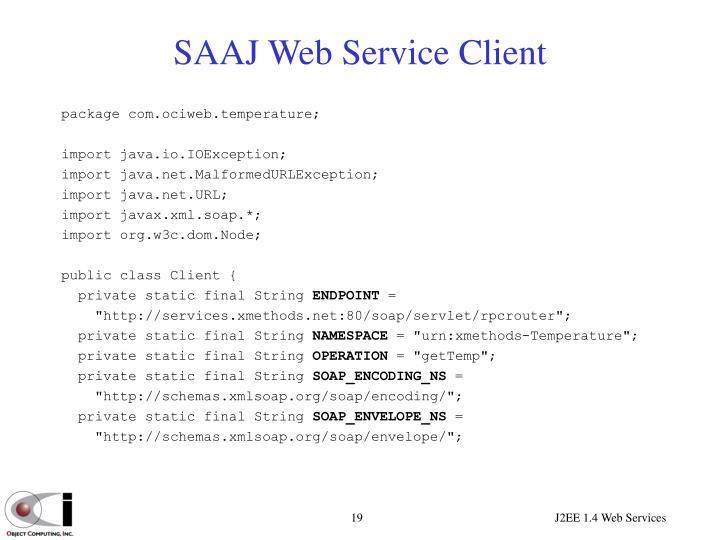 SAAJ Web Service Client