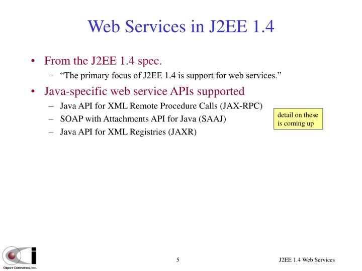 Web Services in J2EE 1.4