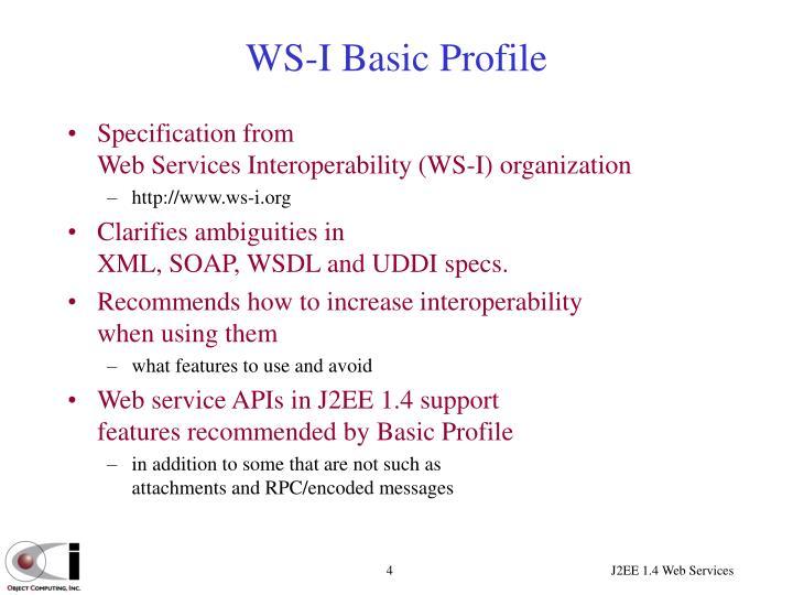 WS-I Basic Profile