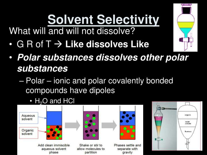 Solvent Selectivity