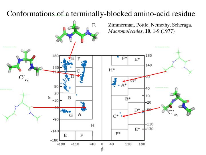 Conformations of a terminally-blocked amino-acid residue
