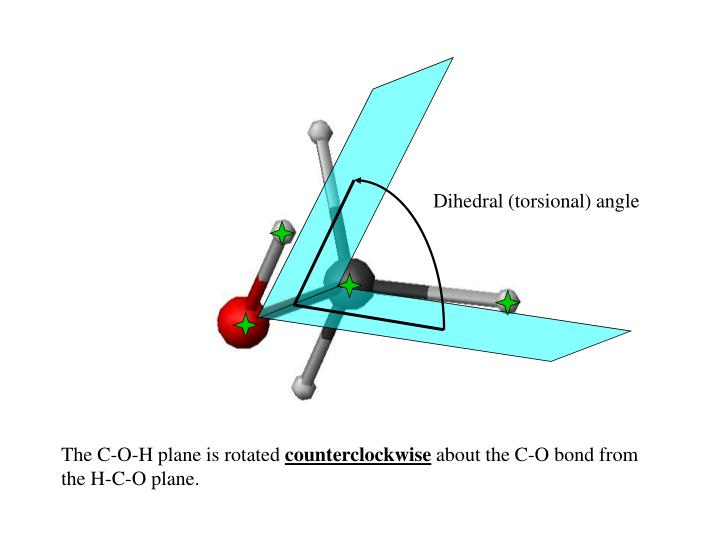 Dihedral (torsional) angle