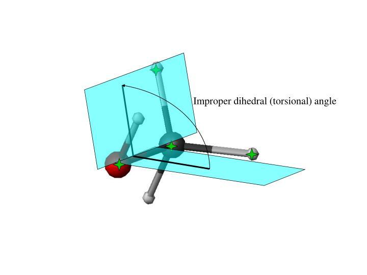 Improper dihedral (torsional) angle