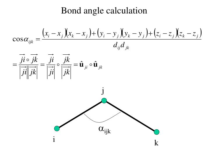 Bond angle calculation