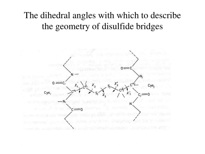 The dihedral angles with which to describe the geometry of disulfide bridges