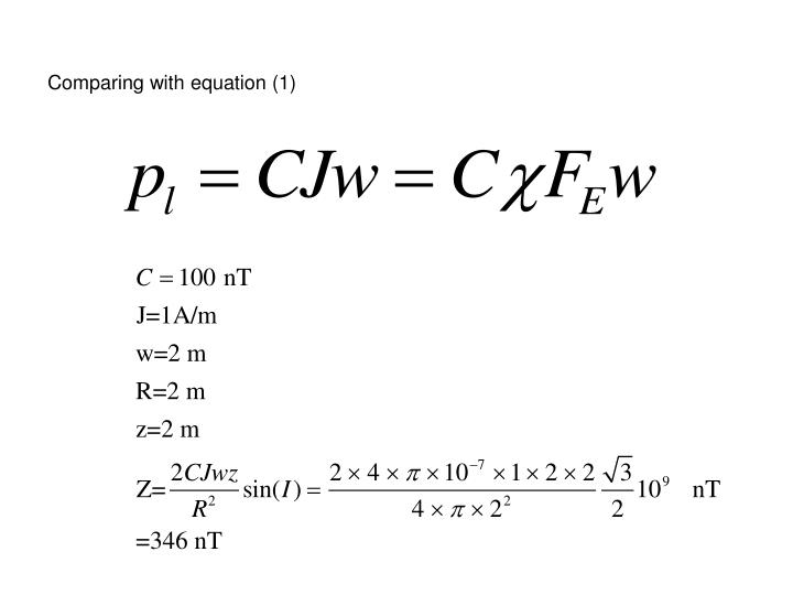 Comparing with equation (1)