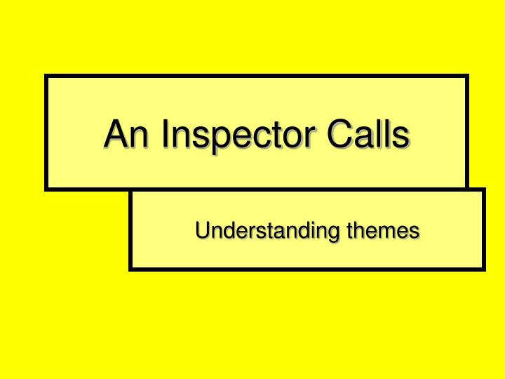 an inspector calls character profile Gerald admits he met daisy renton in last year's spring & she was with him for six months sheila is hurt and angry at geralds involvement with the girl.