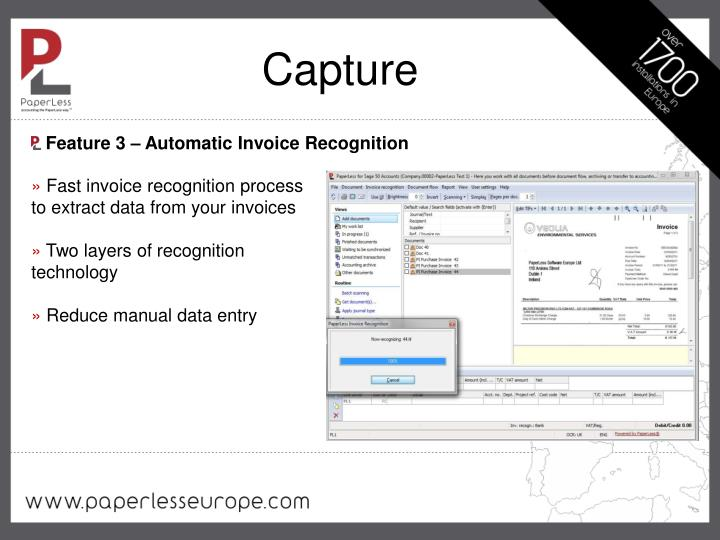 Feature 3 – Automatic Invoice Recognition