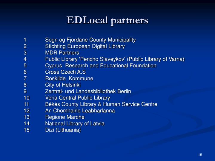 EDLocal partners