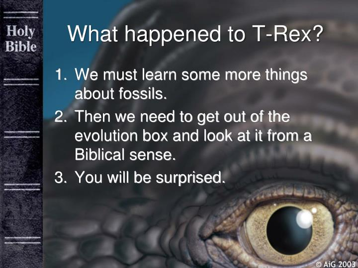 What happened to T-Rex?