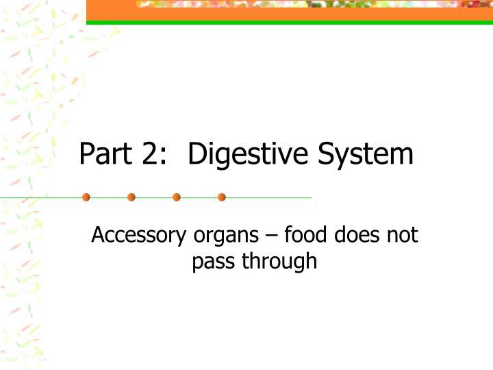 Part 2:  Digestive System