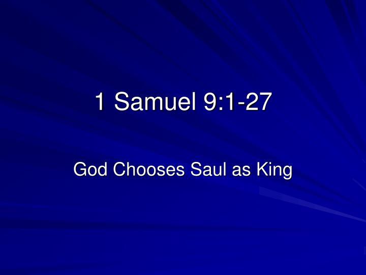 1 Samuel 9:1-27