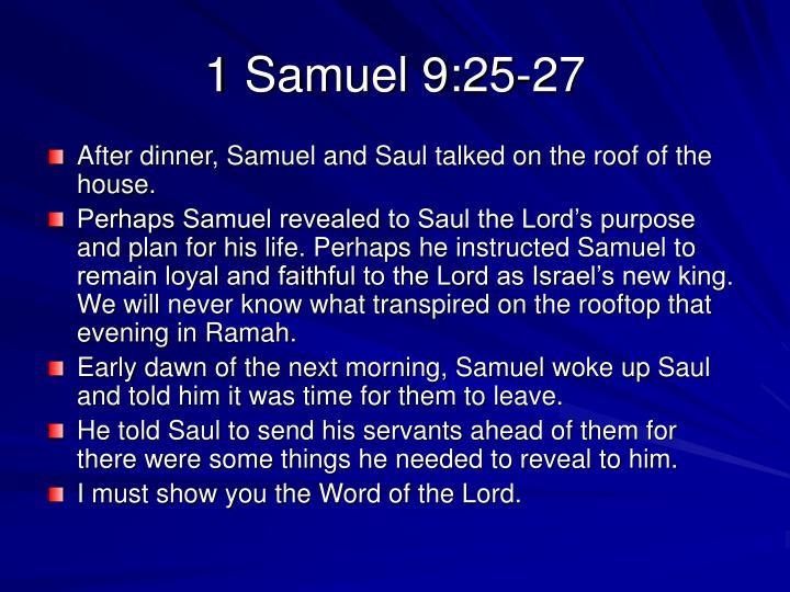 1 Samuel 9:25-27