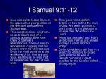 i samuel 9 11 12