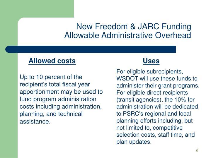 New Freedom & JARC Funding