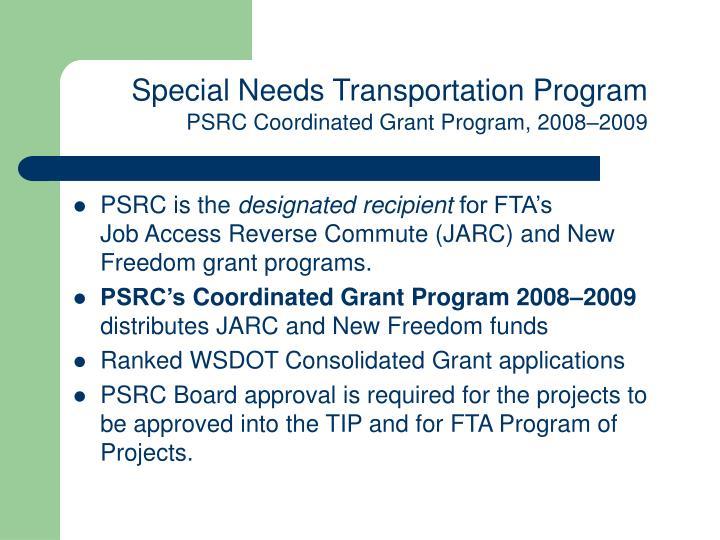 Special Needs Transportation Program