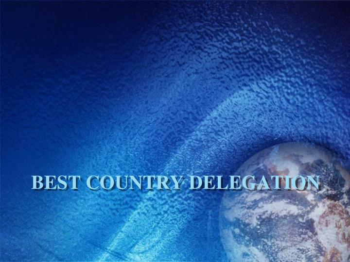 Best Country Delegation