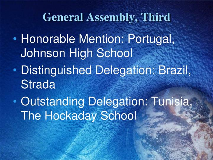 General Assembly, Third